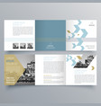 brochure design 1060 vector image