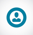 business avatar icon bold blue circle border vector image vector image