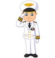 Cartoon captain respectful vector image