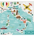Cartoon Map of Italy vector image