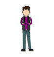 Character man arms folded people image vector image