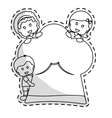 chef hat with kids vector image vector image