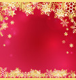 christmas golden background vector image