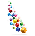 color cubes in various combinations of position vector image