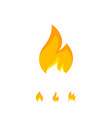colorful design simple flame icon vector image vector image