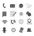 contact and communication icons set vector image