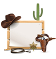 Cowboy Frame vector image vector image