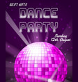 dance disco party holiday event background vector image vector image