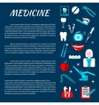 Dentistry medicine infromation banner template vector image