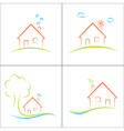 Eco friendly house vector image vector image