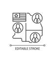 electoral college linear icon vector image
