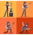 Electric Guitar Icon Guitarist Hard Rock Heavy vector image