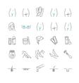 Epilation web icon set vector image vector image
