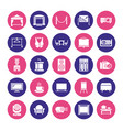event supplies flat glyph icons party equipment vector image vector image
