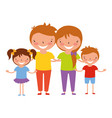 family characters cartoon vector image