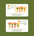 florists and flower shop vector image vector image
