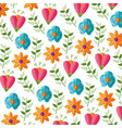 flowers leaves nature vector image vector image