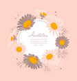 flowers wedding invitation chamomile background vector image vector image