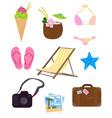 funny summer logos vector image vector image