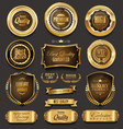 golden sale frame badge and label collection vector image vector image