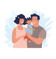 happy young family with toddler mom and dad vector image