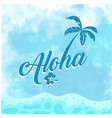 hawaii coconut tree blue background image vector image vector image
