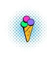 Ice cream comics icon vector image vector image
