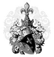 knightly coat of arms heraldic medieval knight vector image vector image