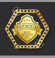 label premium product high quality vector image