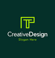 letter t creative business logo vector image vector image