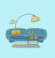 living room cozy interior vector image vector image