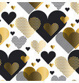 love heart concept with gold luxury element simple vector image vector image