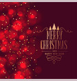 lovely merry christmas festival greeting design vector image vector image