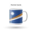 Marshall Islands flag souvenir mug on white vector image vector image