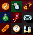 mechanism icons set flat style vector image