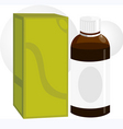 medicine bottle and packet vector image vector image