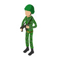 military icon isometric 3d style vector image vector image