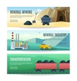 Mining Industry Horizontal Banners vector image vector image