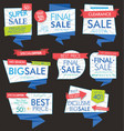 modern sale banners and labels collection 01 vector image vector image