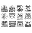 music store dj sound recording studio icons vector image vector image