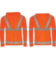 orange safety jacket vector image vector image