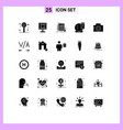pictograph set 25 simple solid glyphs vector image vector image
