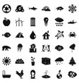 planet earth icons set simple style vector image