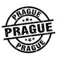 prague black round grunge stamp vector image vector image