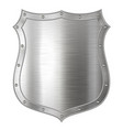 realistic metal shield weapon icon element for vector image vector image