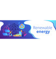 renewable energy concept banner header vector image
