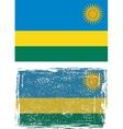 Rwanda grunge flag vector image vector image