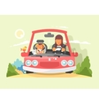 Safe driving in car vector image vector image