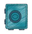 Safe money box isolated icon