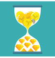Sand Time Yellow Diamond vector image